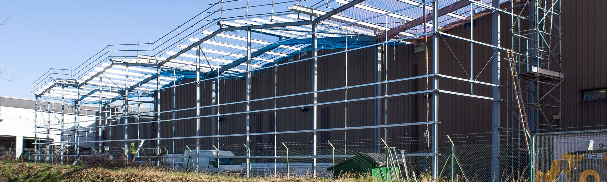 Building being constructed on Wrexham Industrial Estate