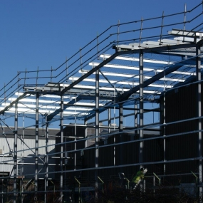 Factory Extension Steelwork