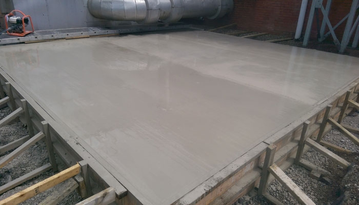 Concrete Base for Air System - Wrexham