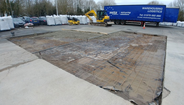 Concrete Hardstanding to Lorry Park